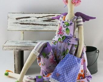 Fashion Doll, Tilda angel, Interior Doll, Handmade Toy, Fabric Doll, Soft Toy, Home Decor, Gift for children, tilda doll, Art Dol, rag dolls