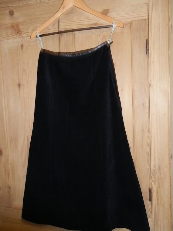 vintage next black needlecord maxi skirt uk size 10