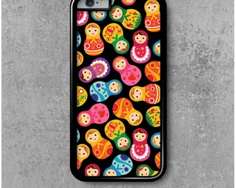 iPhone 6 / 6s Case Black Russian dolls Matryoshka