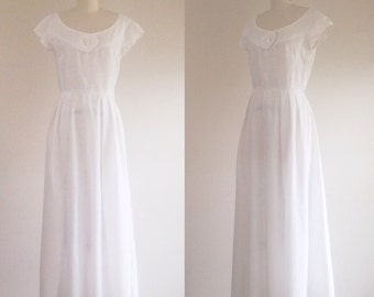 White Wedding Dress Simple Gown Cotton Beach