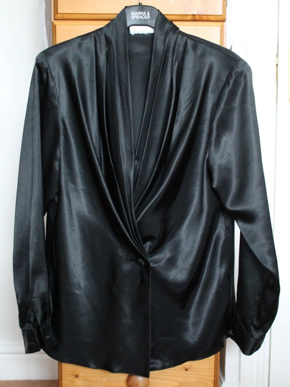 shop my stuff: 1980s black evening blouse