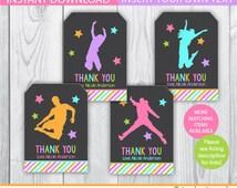 Bounce House favor tags / Jump gift tags / Jump Decoration / Jump favor tags / Trampoline favor tags / trampoline birthday / jump birthday