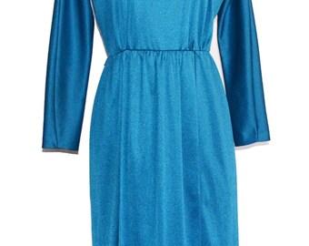 Vintage Blue Scoop-Back Dress item #9060