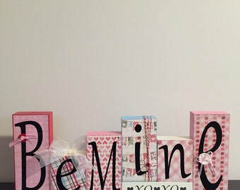 Be Mine Valentine blocks, XoXo