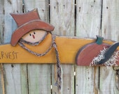 Primitive Scarecrow - Solid Wood - Wall Decor - Handmade Fall Decor - OFG, FAAP, HAFAIR, Team HaHa