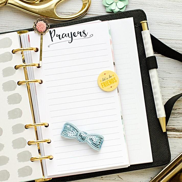 Personal planner insert printable Prayers by HeatherGreenwoodShop
