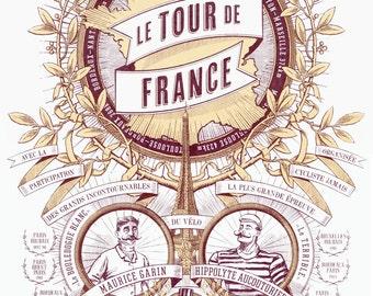 Tour de France Limited Edition Screenprint | The First Tour