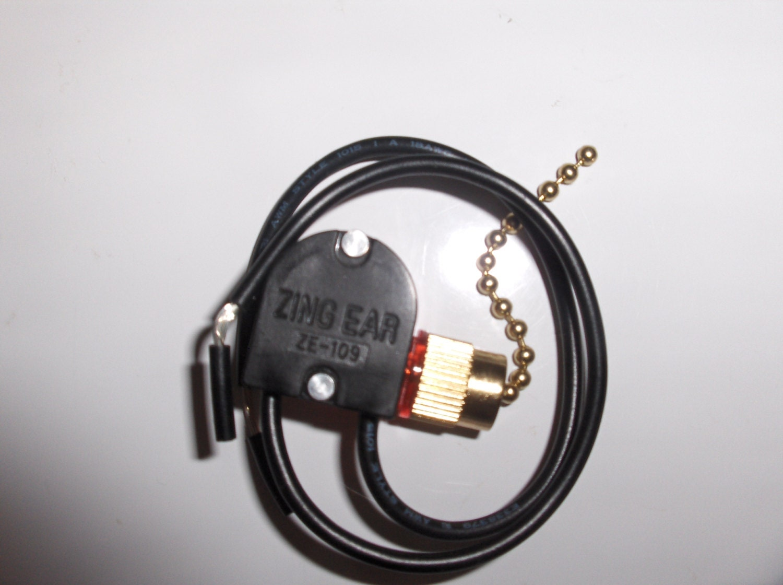 ZING EAR ZE 109 ZE109 Pull Chain Switch Brass finish ceiling