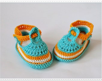 Crochet baby shoes Baby booties Baby boy shoes Crochet baby sandals Crib shoes Newborn baby shoes Blue baby shoes Baby gift