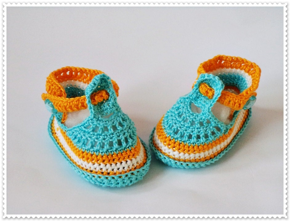 Crochet baby shoes Baby booties Baby boy shoes Crochet baby