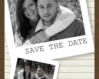 25 Polariod Style Save The Date Card