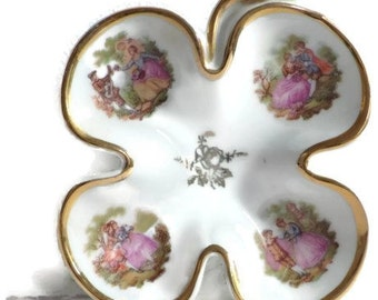 French Antique Tiny Dish Limoges
