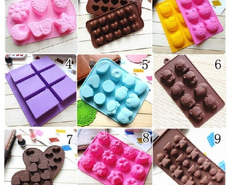 15  types cute Silicone cake Mold/ Cake Mould /Mold Silicone  Chocolate Mould suitable for making a cake,bread,jelly, chocolate, pudding