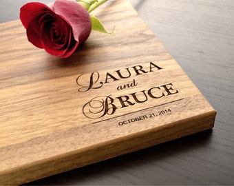 Personalized Wedding Cutting Board, Engraved Chopping Board, Bridal Shower Gift, Anniversary Gift, Custom Engagement Gift, Housewarming Gift