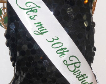 St. Patrick's Day Birthday Sash, Birthday Sash, Design Your Own FREE PERSONALIZATION By Sashanation