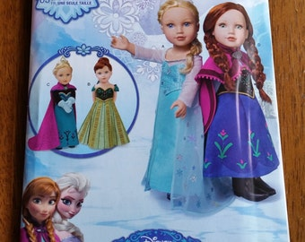"Simplicity Disney Frozen Pattern 18"" Doll S0747"