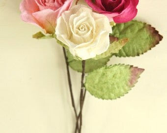 Small Paper Roses {5 colours}
