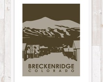 Breckenridge, Colorado Town Scene ~ Art Print ~ Many Sizes Available ~ Many Colors Available
