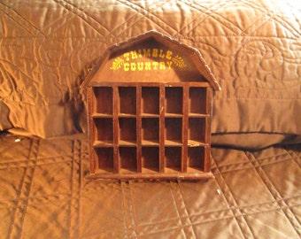 Vintage--Thimble Country--Shadow Box--Showcase--Wall Hanger--Wooden Shadow Box.