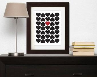 Hearts Print - Hearts Wall Art - Hearts Wall Decor - Romantic Wall Art - Romantic Wall Decor - Love Wall Art - Love Print