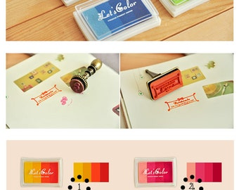 1pc Craft Colorful Ink Pad Set - Rubber Stamp Ink Pad - Stamp Pad -  Water Resistant, Inkpad, Craft, Funnyman - 6 colors for choose, I002