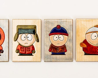 Set of fridge magnets South Park