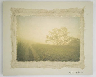 In the morning mist ... Original photograph Collage Art,Japanese, Zen