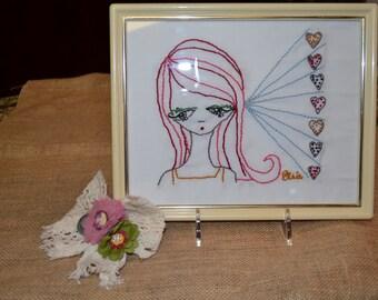 Elsie Flannigan Hand Embroidered Wall Art