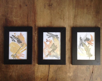 Tribal Roots - Original Watercolor Collage Series
