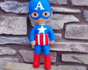 Plush Super Hero Doll - Captain America