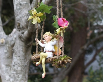 Fairy Swing Handcrafted by Olive* ~ (Swing Only ~ See Other Listing for Swing with Fairy) Handmade Fairy Accessories, Faeries. Fae Garden