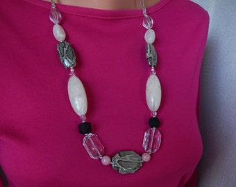 No. 1069  Ocean Themed Beaded Necklace
