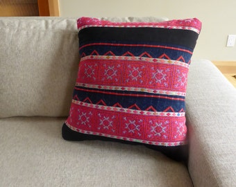 Vintage Hand Embroidered Pillow Cover #13