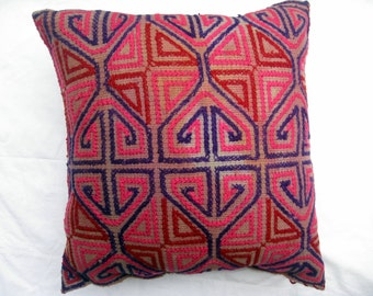 Vintage Hand Embroidered Pillow Cover #17