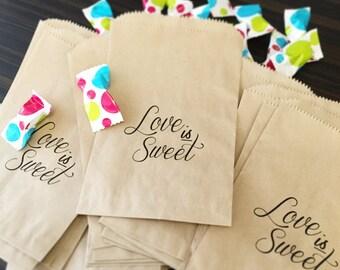 50% OFF! Love is sweet! Candy Bar Buffet Favor Bags!
