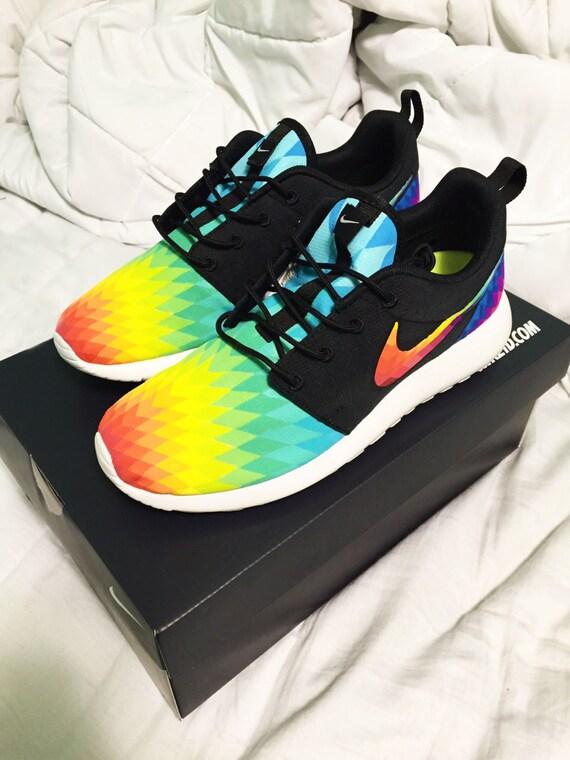 HAND PAINTED Custom Nike Roshe Run Prismburst by SydneyKayCustoms