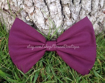 Plum Hair Bow, Purple Hair Bow