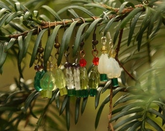Christmas Earrings, Xmas Earrings, Christmas Tree Earrings, Xmas Tree Earrings, Stocking Filler, Winter Gift, Holiday Earrings