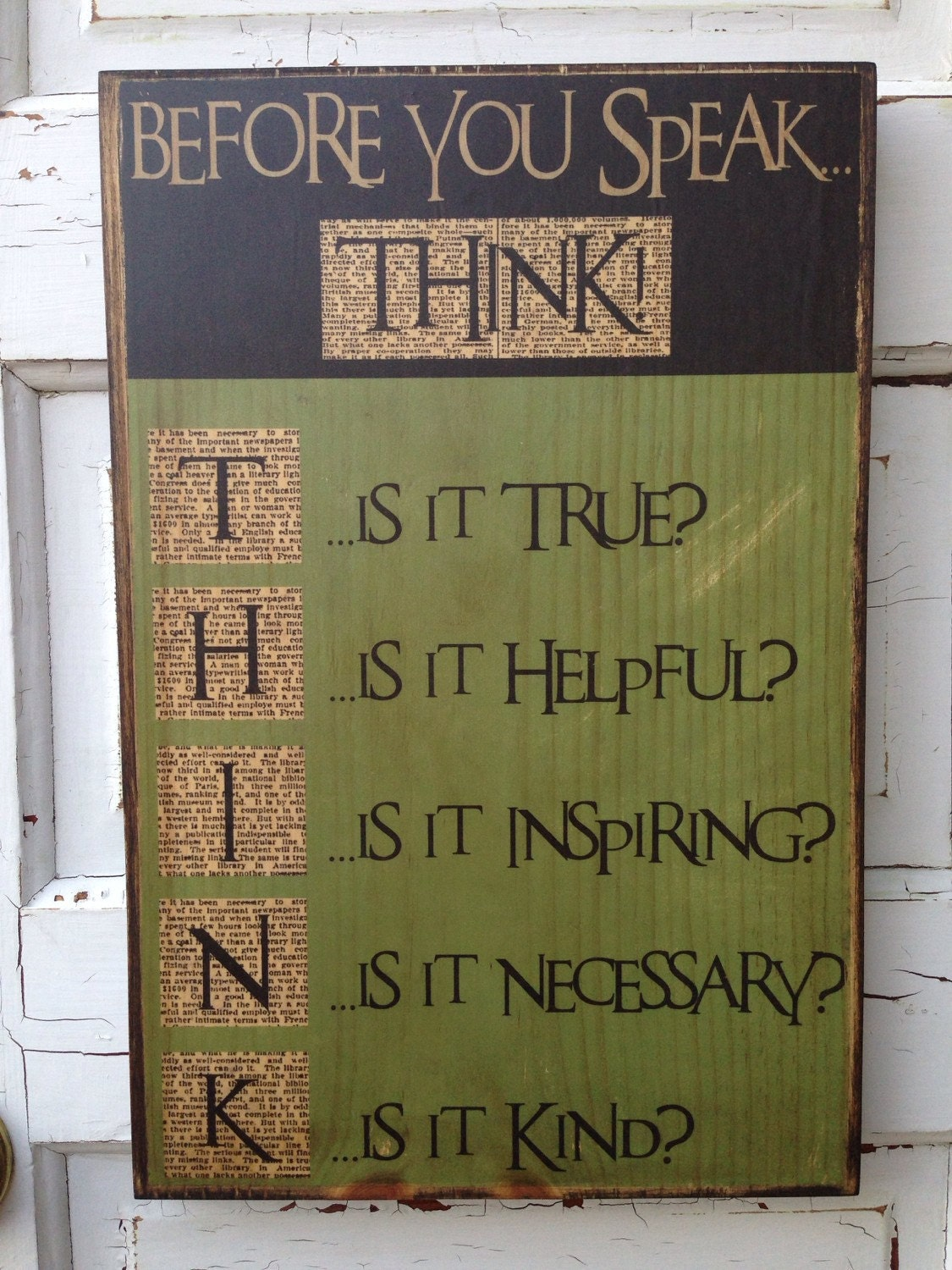 16 Row House Interior Design Ideas: Before You Speak Think Typography Sign, Inspirational