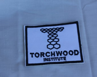 Torchwood Institute Iron On/Sew On Embroidered Patch w/ Free Shipping