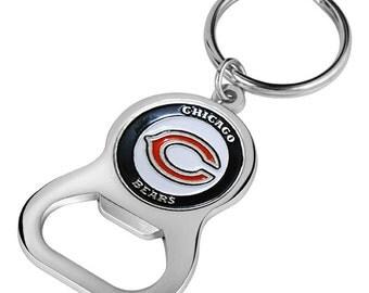 Chicago Bears Keychain Bottle Opener
