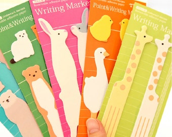 Cute lover Animals& family animal Sticky Notes Markers writing marker memo Stickers Post-it supplies scrapbook --12 styles
