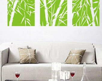 Beau Big Bamboo Frameless Draw Wall Decals,bamboo Wall Decal,bamboo Wall Stickers ,wall