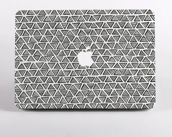 Triangle Pattern Macbook Case in White for MacBook Pro Retina Display and MacBook Air Case