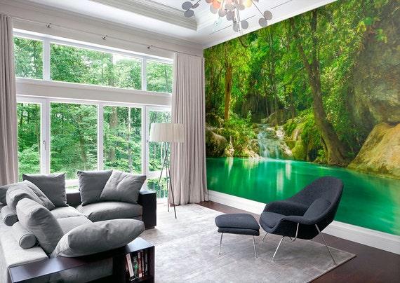 bosque lago murales decorativos mural adhesivo