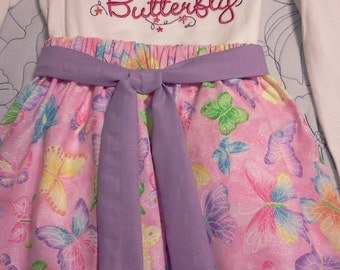 Social Butterfly 2 Piece Girls Outfit