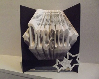 """Book Folding Pattern for """"Dream"""" (with stars) + FREE TUTORIAL"""