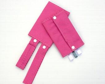 Pink and White Polka Dot Teething Pads, Ergo Teething Pads, Biba Teething Pads, Tula Teething Pads, Beco Teething Pads