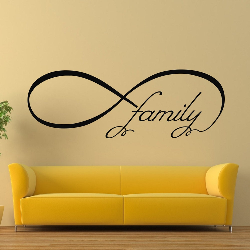 Vinyl Wall Decals Family Infinity Symbol Bedroom Decal