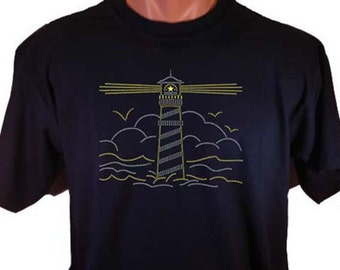 Glitter Lighthouse Decorative T-Shirt